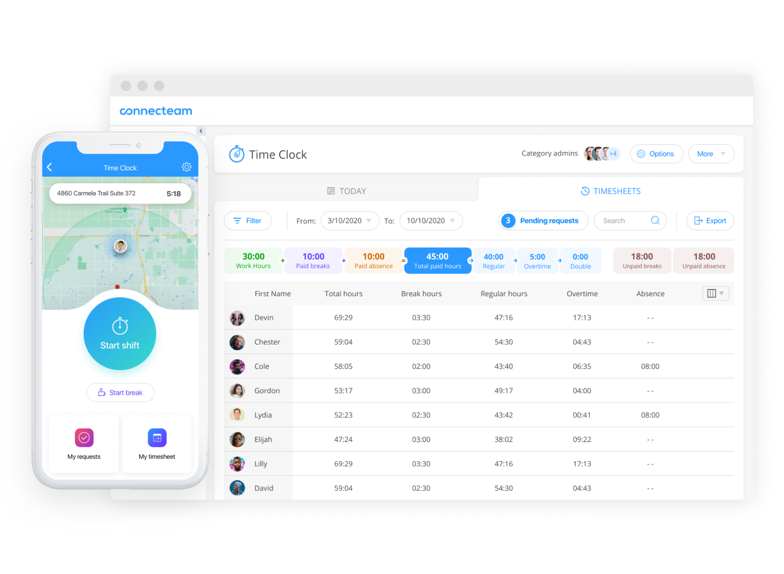 Retail Employee Timesheets and Time Clock app
